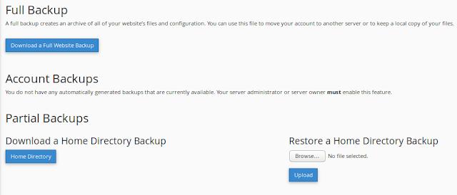Cara Backup File Website Melalui Cpanel Dengan Mudah