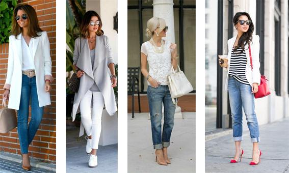 Dress code: Casual Chic (Smart Casual) - Mistura de elementos clássicos tais como, saia pencil, calças de corte clássico, trench-coat, blazer, mala estruturada ou uns pumps, com peças casuais e descontraídas, tais como, jeans, ténis, cardigans, sweaters, mocassins ou t-shirt
