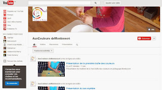 Aux Couleurs de Montessori sur You Tube