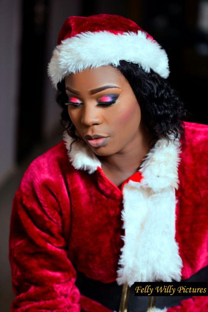 Motilola Akinlami Adekunle in Christmas (Santa) Dress