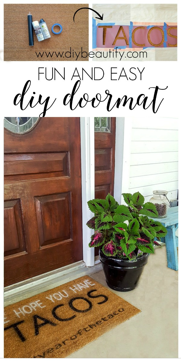 fun and easy DIY door mat