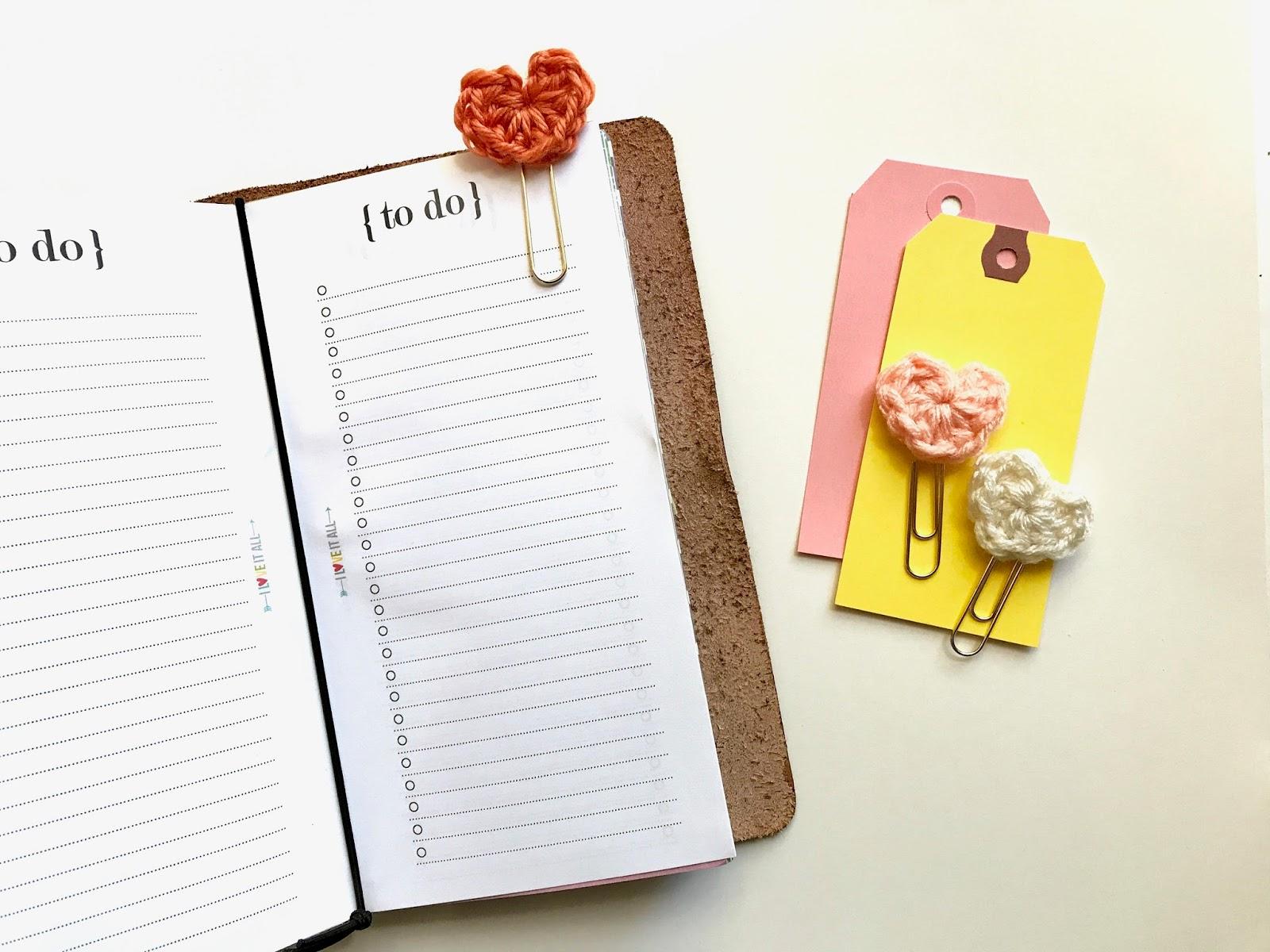 #heart #planner #clip #paper #midori #travelers #notebook