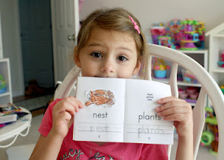 Finally, Tessa pasted the pics into her mini-dictionary.