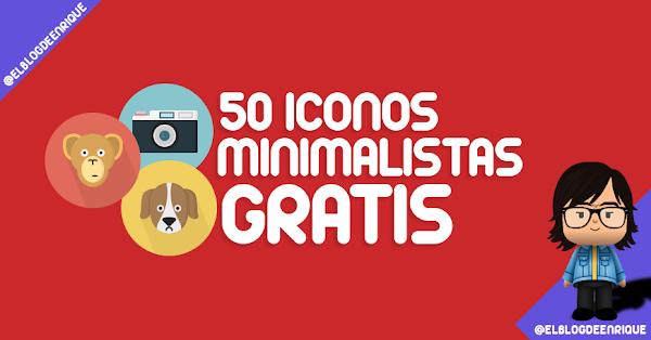 Pack de 50 iconos minimalistas gratis por graphicburger en diferentes formatos