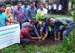 Tree plantation by youth forum