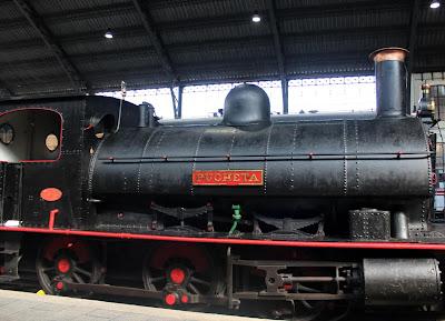 Locomotora de vapor. Museo del Ferrocarril de Madrid