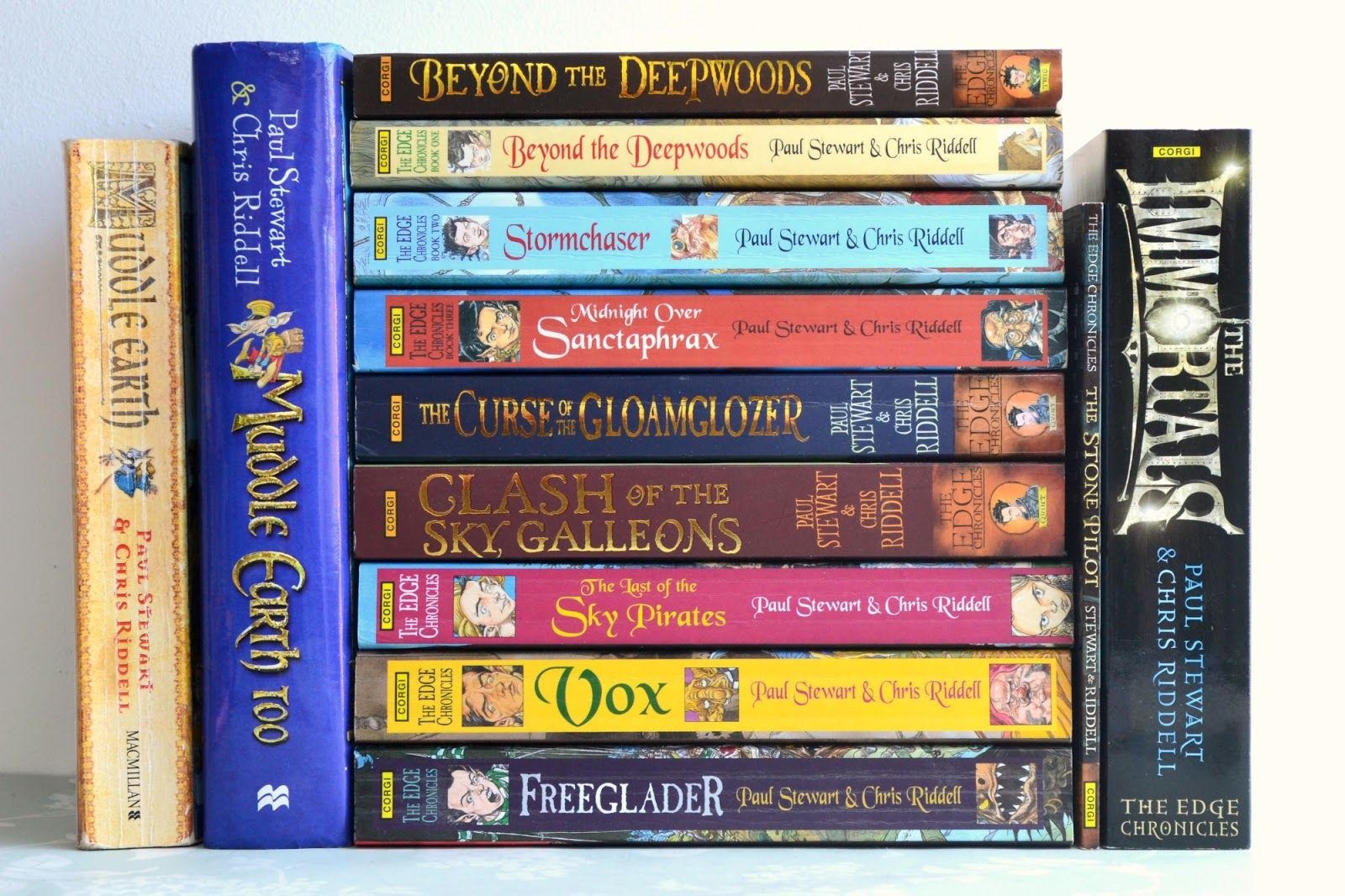 Chris Riddell and Paul Stewart - 12 books