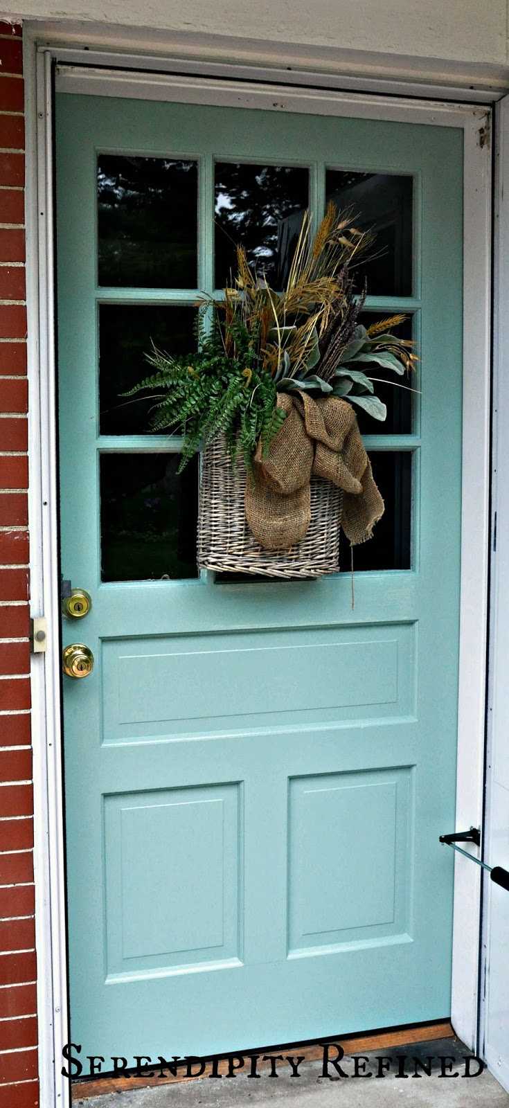 Serendipity Refined Blog: Turquoise Painted Wood Exterior ...
