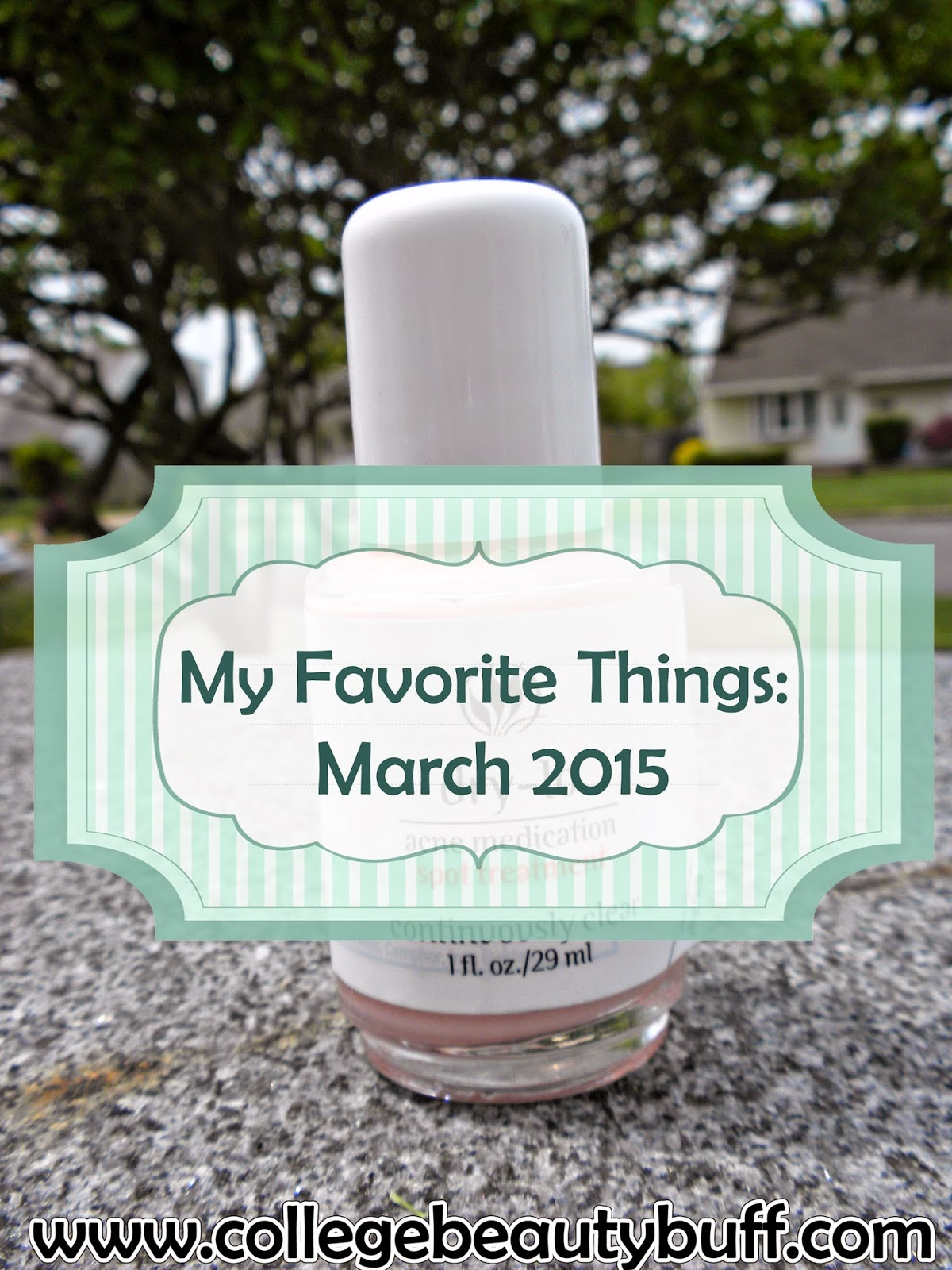 My Favorite Things: March 2015