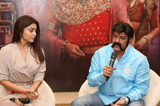 Shriya Saran Nandamuri Balakrishna at Gautamiputra Satakarni Team Press Meet Stills  0113.JPG