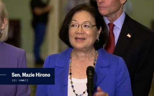 """Sen. Hirono on Kavanaugh: Men Need To """"Shut Up,"""" Accuser Needs To Be Believed And I Believe Her"""
