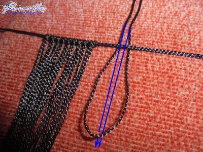 плетение браслета в технике макраме