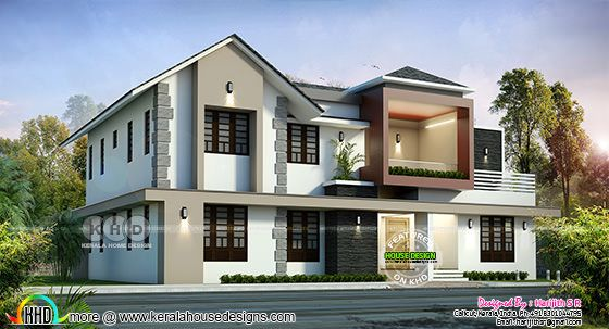 2939 square feet mixed roof 5 BHK home design