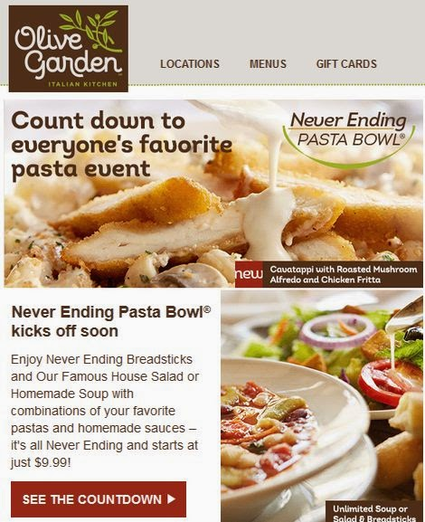 Olive Garden Printable Coupons May 2018