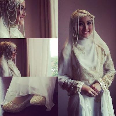 gaun pengantin sesuai syariat