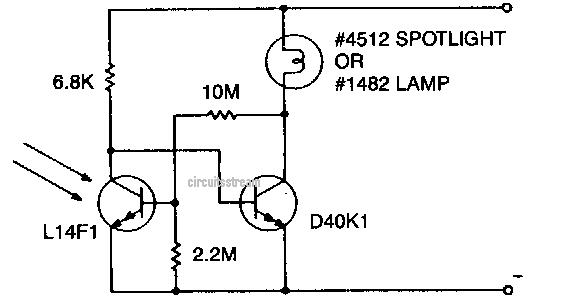 simple flash light circuit schematic diagram