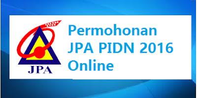 Permohonan JPA PIDN 2016 Online
