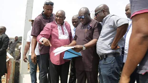 PHOTOS: Ikpeazu begins construction of underground flood channel in Aba