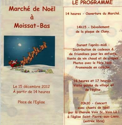 Marché de Noël 2012, Moissat-Bas