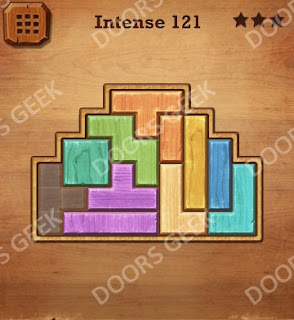 Cheats, Solutions, Walkthrough for Wood Block Puzzle Intense Level 121