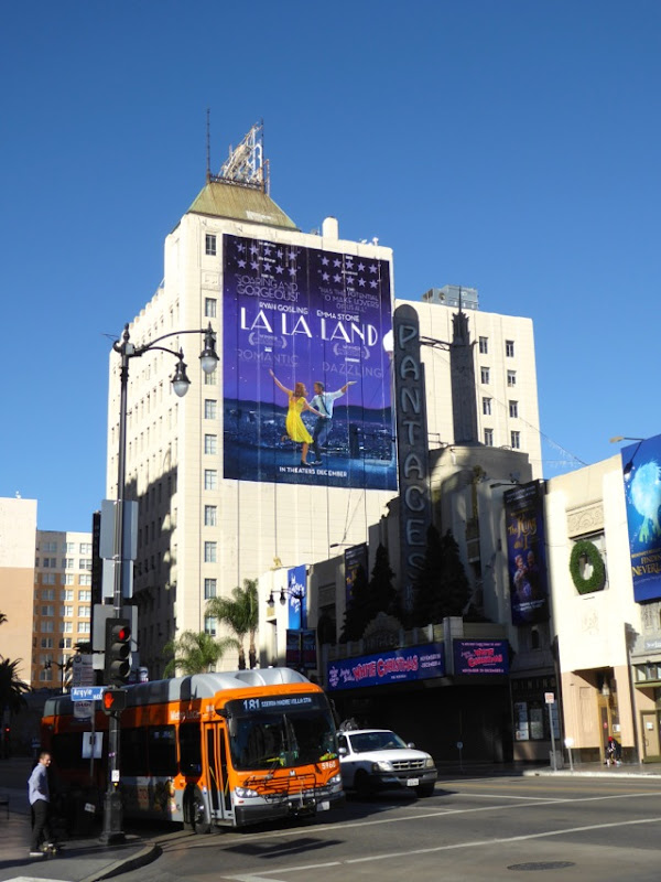 Giant La La Land film billboard