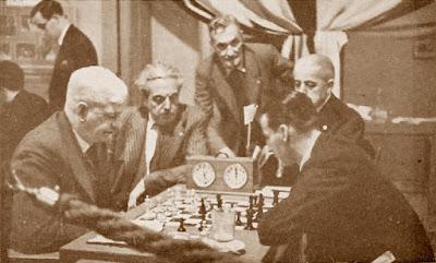 Partida Sir George Thomas contra Henri Grob en el Torneo Internacional de Barcelona 1935