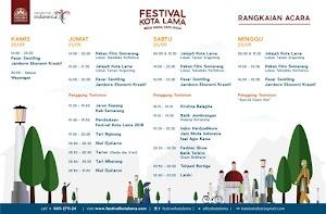 Ini Jadwal Rangkaian Acara Festival Kota Lama 2018