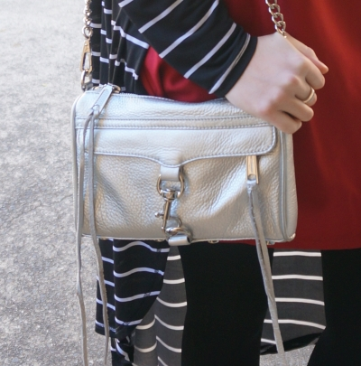 Rebecca Minkoff metallic silver mini MAC