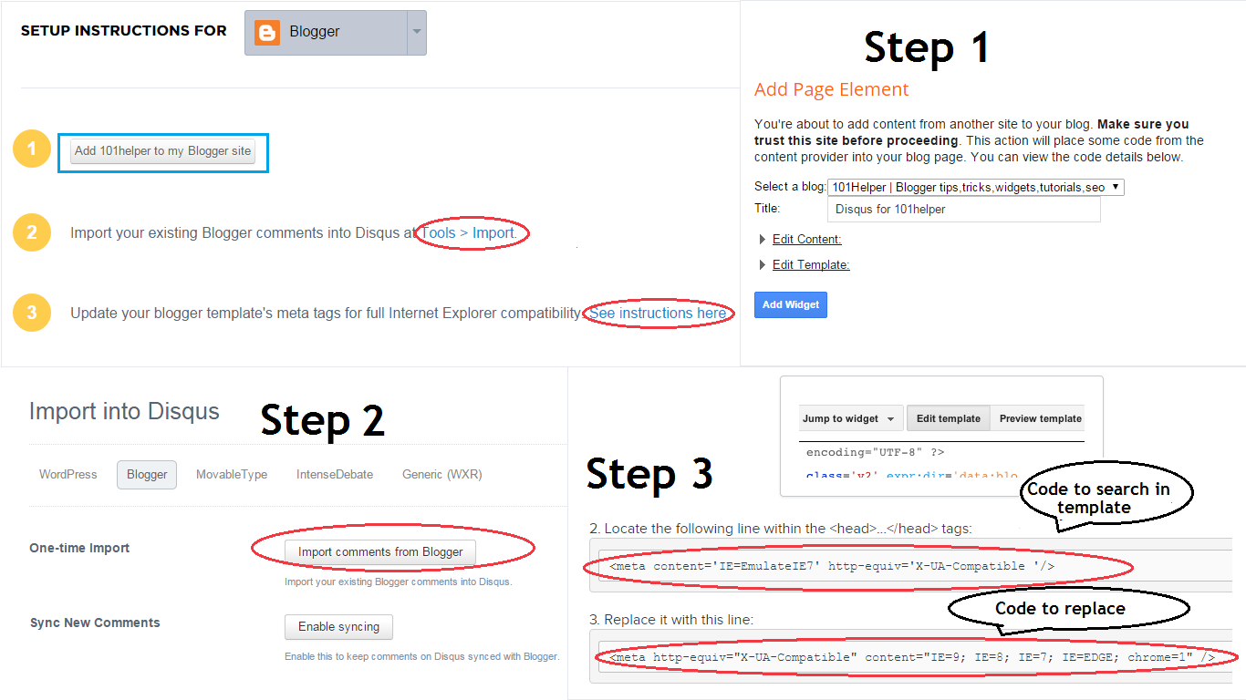 How to setup diqus comments in blogger | 101Helper blogger comments