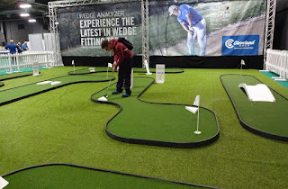 Putting at The Golf Show by American Golf at EventCity in Manchester