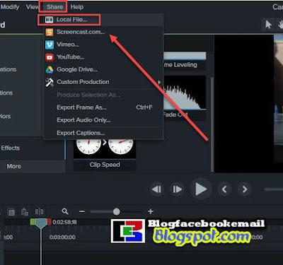 cara menyimpan video menggunakan camtasia