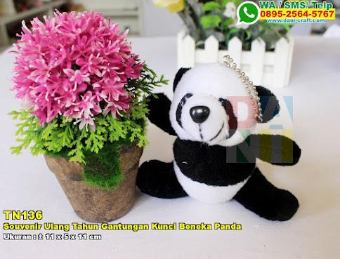 Souvenir Ulang Tahun Gantungan Kunci Boneka Panda