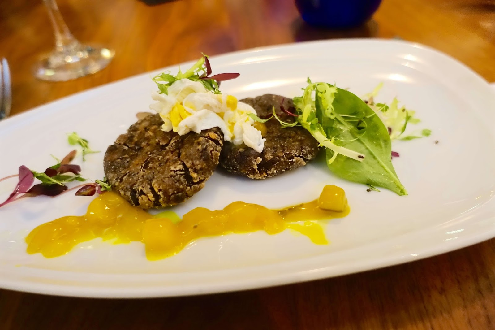 potato and black pudding fritters