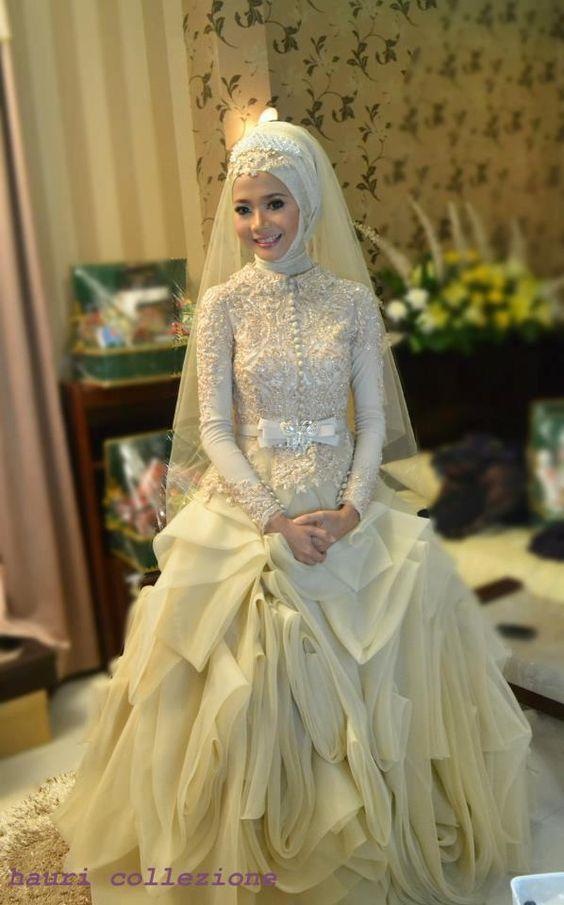 25 Model Kebaya Pengantin Muslim Modern Terbaru 2018