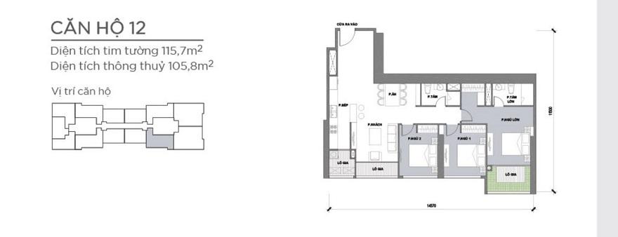 Bản vẽ căn hộ 115,7m2
