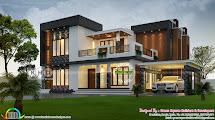 2423 Square Feet 4 Bhk Contemporary Home Plan - Kerala