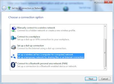 Konfigurasi Jaringan Ad Hoc (computer to computer) di Windows 7