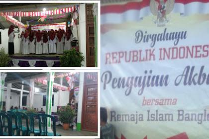 Pengajian Akbar Remaja Islam Bangle dalam rangka dirgahayu Republik Indonesia ke 73