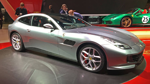 Ferrari GTC4Lusso T with V8 Engine Performance front side view