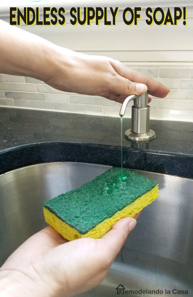 Endless supply of soap for your kitchen sink