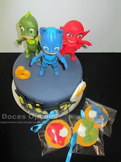 bolo bolachas PJ Masks doces opções
