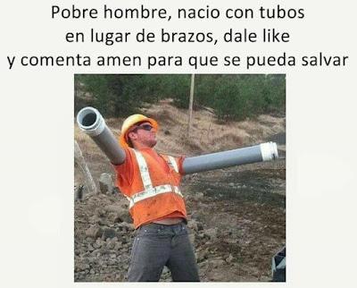 Pobre hombre, nació con tubos en lugar de brazos, dale like y comenta amén para que se pueda salvar
