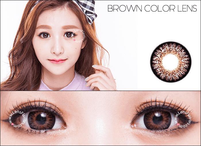 geo princess mimi chocolate brown circle lenses