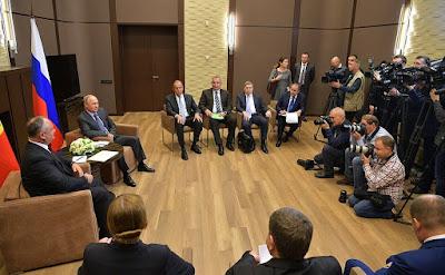 Meeting with President of Moldova Igor Dodon in Sochi.