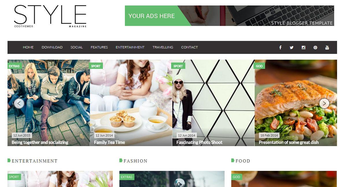 Style Magazine Blogger Template