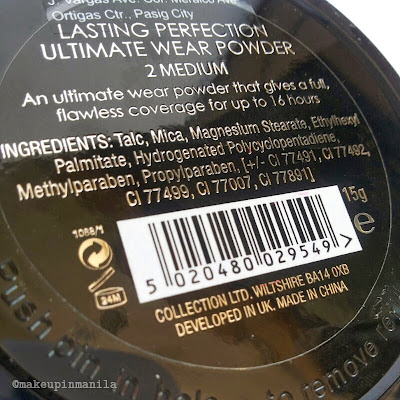 Collection 2000 Lasting Perfection Powder Review
