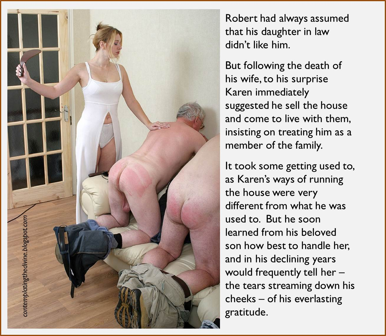 Mother in law spanking husband femdom