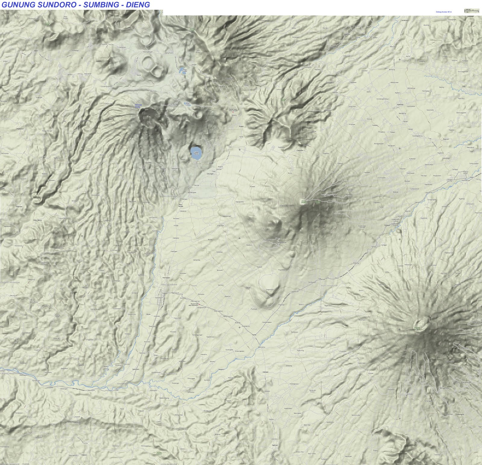 TAKJUB INDONESIA: Peta Topografi Kawasan Wisata Dieng