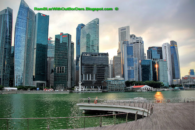 CBD citiscape, Marina Bay, Singapore