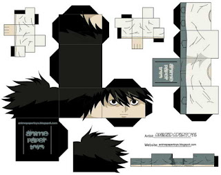 Papercraft L - Death Note